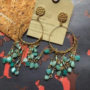 NWT Anthropologie stone tassels earrings